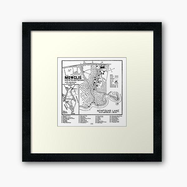 Col. Elwell Map Framed Art Print
