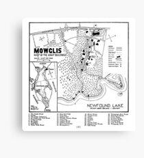 Col. Elwell Map Canvas Print