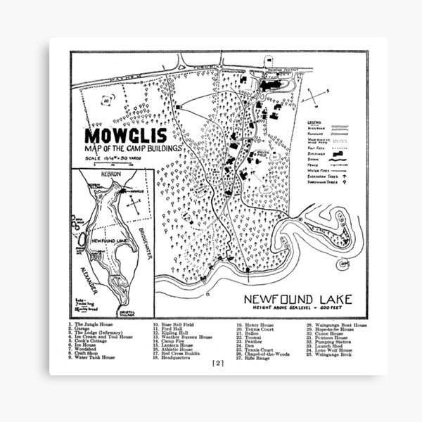 Col. Elwell Map Canvas Print