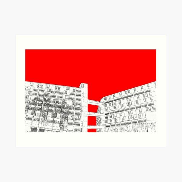 Park Hill Red Art Print