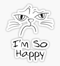 Funny Angry Cat Mug - For Cat Lover Sticker