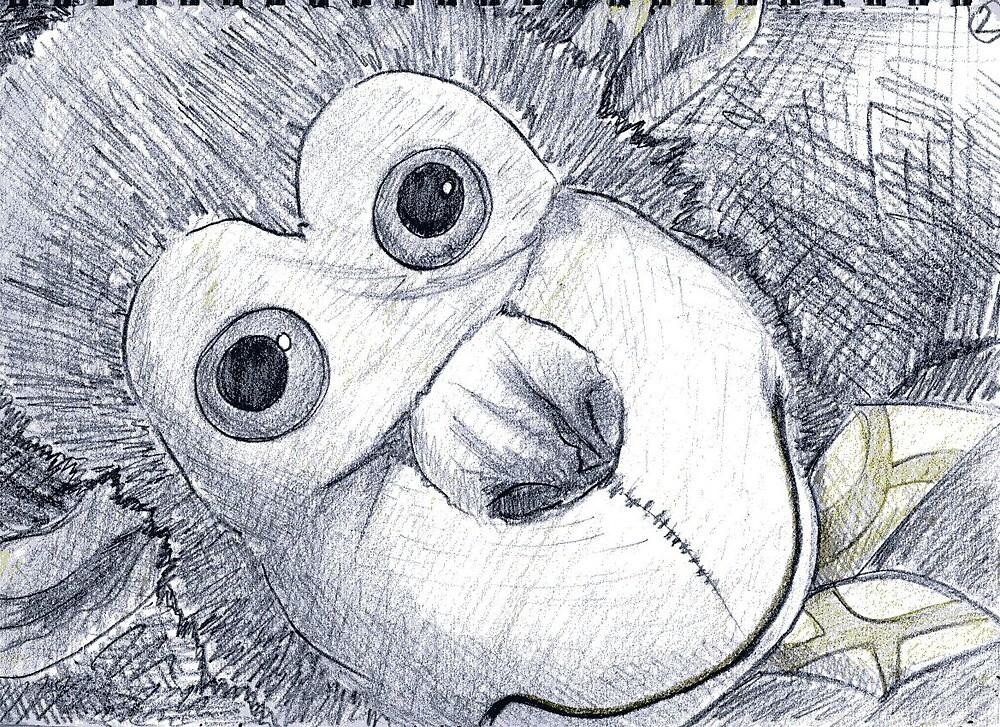 chimp face 001 by djzombie