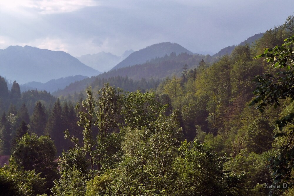 Summer in the Bavarian Alps by Kasia-D