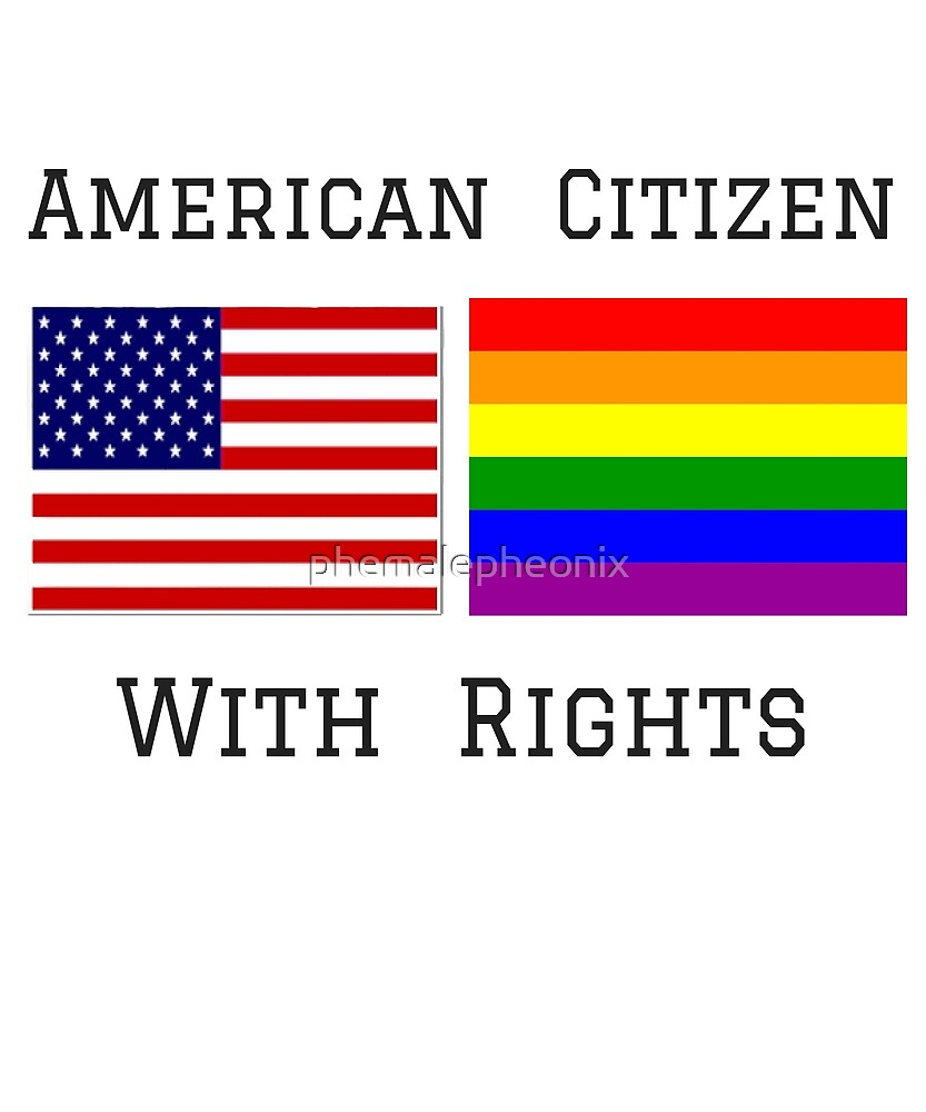 NATIONAL GAY PRIDE 2017 LGBTQ AMERICAN CITIZEN T-SHIRT by phemalepheonix