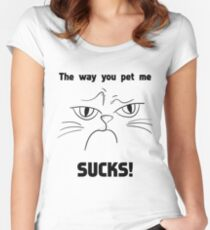 Funny Grumpy Cat Gift - For Cat Lover Women's Fitted Scoop T-Shirt