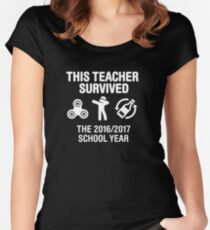 This teacher survived school year 20116 - 2017 Women's Fitted Scoop T-Shirt