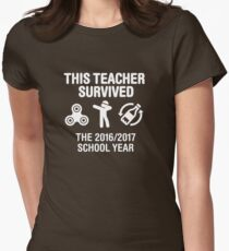 This teacher survived school year 20116 - 2017 Womens Fitted T-Shirt