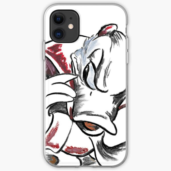 Charcoal and Oil - Devil Donald Duck iPhone Soft Case