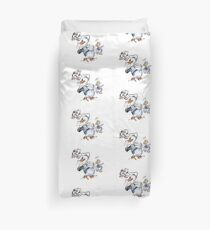 Charcoal and Oil - Devil Donald Duck Duvet Cover