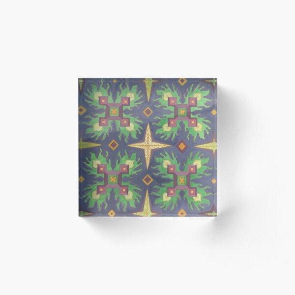 kaleidoscope Acrylic Block