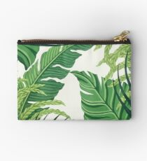 Green tropical leaves Studio Pouch