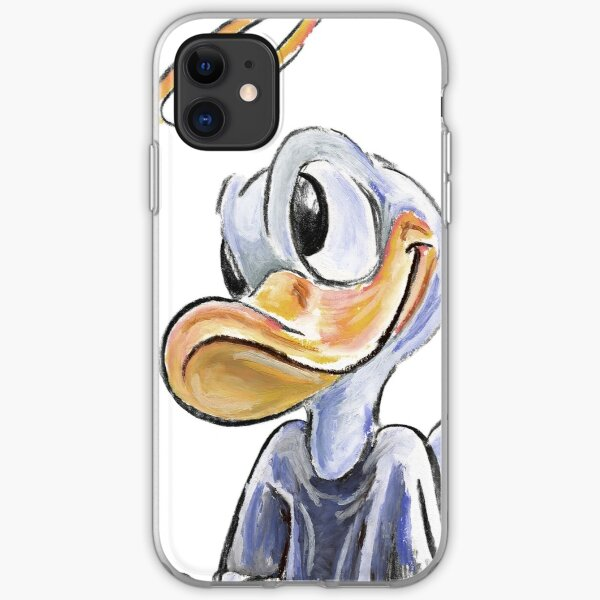 Charcoal and Oil - Angel Donald Duck iPhone Soft Case