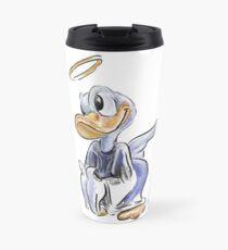 Charcoal and Oil - Angel Donald Duck Travel Mug