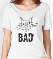 BAD Angry Cat Gift - For Cat Lover Women's Relaxed Fit T-Shirt