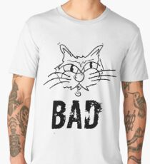 BAD Angry Cat Gift - For Cat Lover Men's Premium T-Shirt