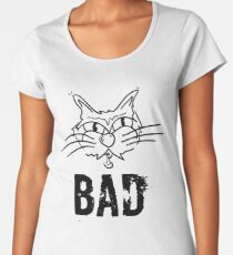 BAD Angry Cat Gift - For Cat Lover Women's Premium T-Shirt