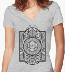 Ultra Sacred Geometry Women's Fitted V-Neck T-Shirt