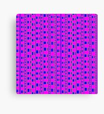 The straight story in wavy lines Canvas Print