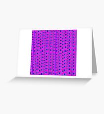 The straight story in wavy lines Greeting Card