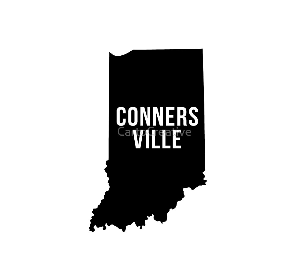 Connersville, Indiana Silhouette by CartoCreative