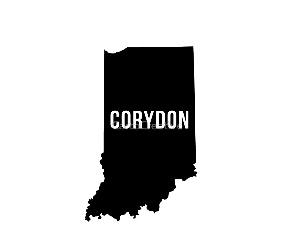 Corydon, Indiana Silhouette by CartoCreative