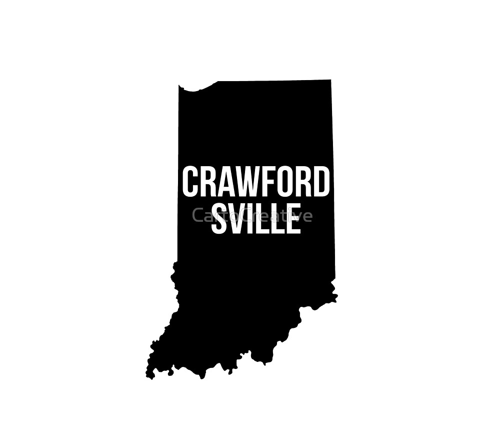Crawfordsville, Indiana Silhouette by CartoCreative