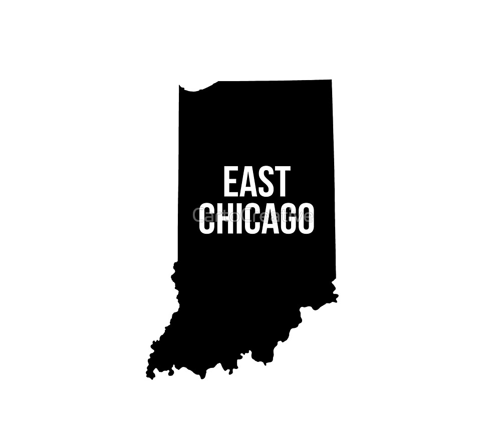East Chicago, Indiana Silhouette by CartoCreative