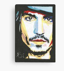 Johnny Depp, 1st painting. Canvas Print