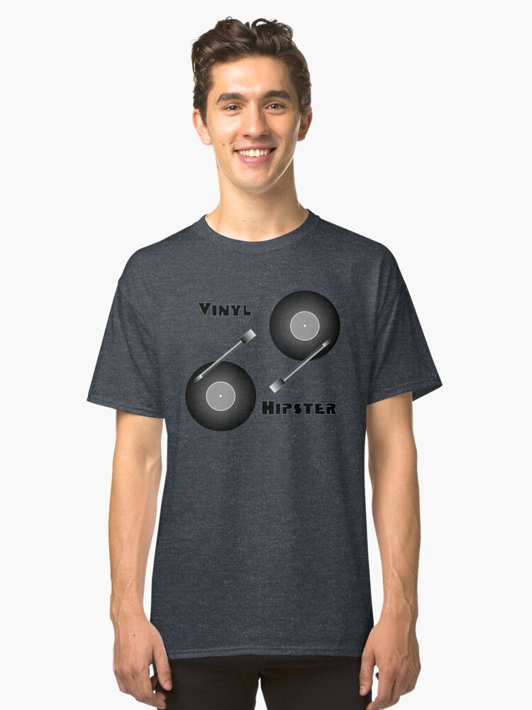 Vinyl Hipster Classic T-Shirt Front