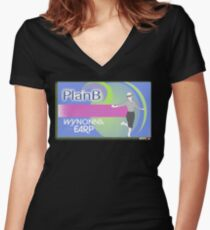 Wynonna Earp - Plan B (Blue) | OTTees Women's Fitted V-Neck T-Shirt