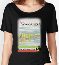 Visit Wakanda- Vintage Travel Ad Women's Relaxed Fit T-Shirt