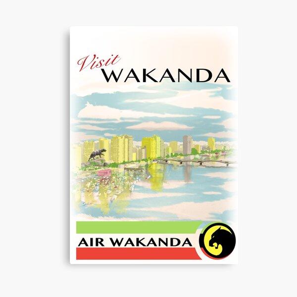 Visit Wakanda- Vintage Travel Ad Canvas Print