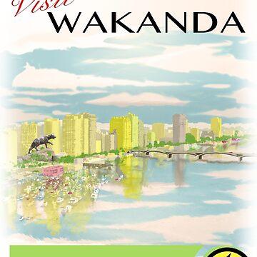 Visit Wakanda- Vintage Travel Ad by PluralSingular