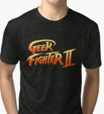 Street Fighter II - Geek Fighter II Tri-blend T-Shirt