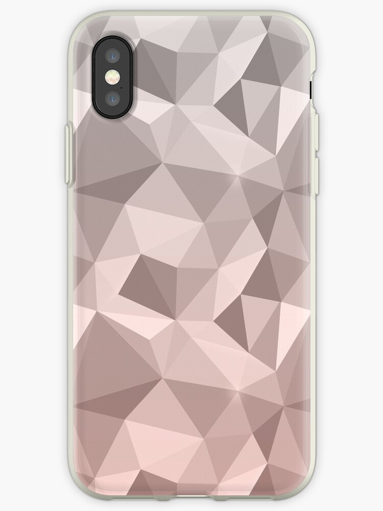 Abstract polygonal pattern .Beige, brown, grey triangles. by marinaklykva