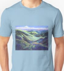 View from the Rooftop St Bernards Tamborine In Pastel  T-Shirt