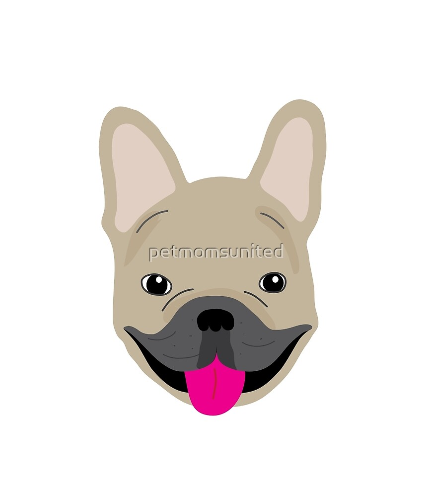 Smiling Frenchie, Fawn by petmomsunited