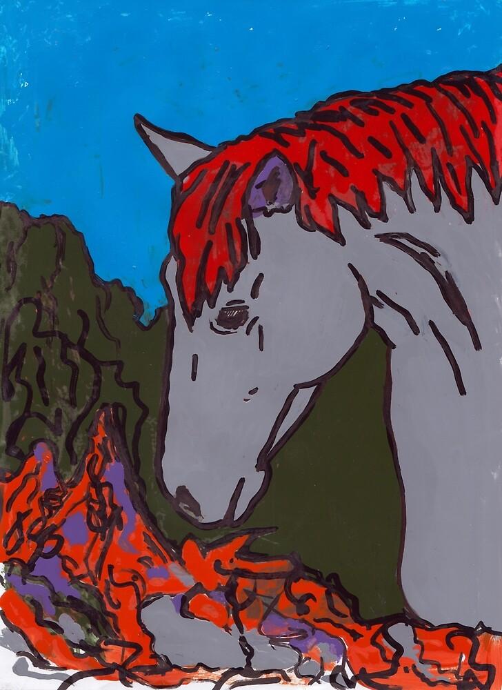Grey Horse  by Juhan Rodrik