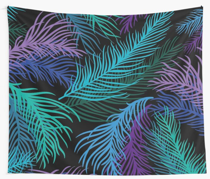 Multicolored palm leaves by CatyArte
