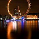 London Eye at Night by Victoria Ashman