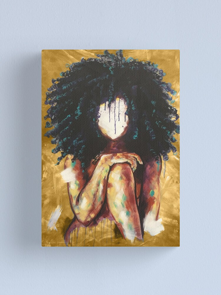 Alternate view of Naturally I GOLD Canvas Print