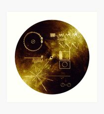 The Voyager Golden Record! Art Print