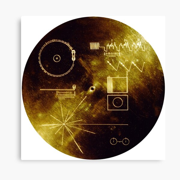 The Voyager Golden Record! Canvas Print