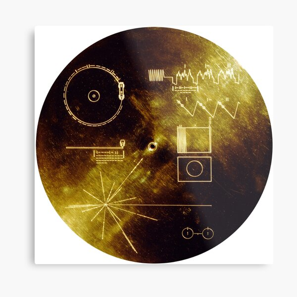 The Voyager Golden Record! Metal Print