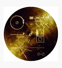 The Voyager Golden Record! Photographic Print