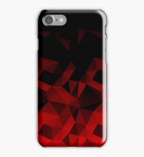 Abstract polygonal pattern .Red, black triangles. iPhone Case/Skin
