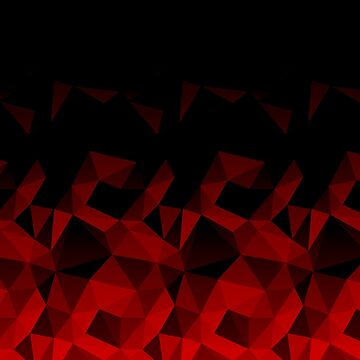 Abstract polygonal pattern .Red, black triangles. by marinaklykva