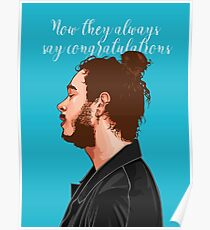 Post Malone Congratulations Poster