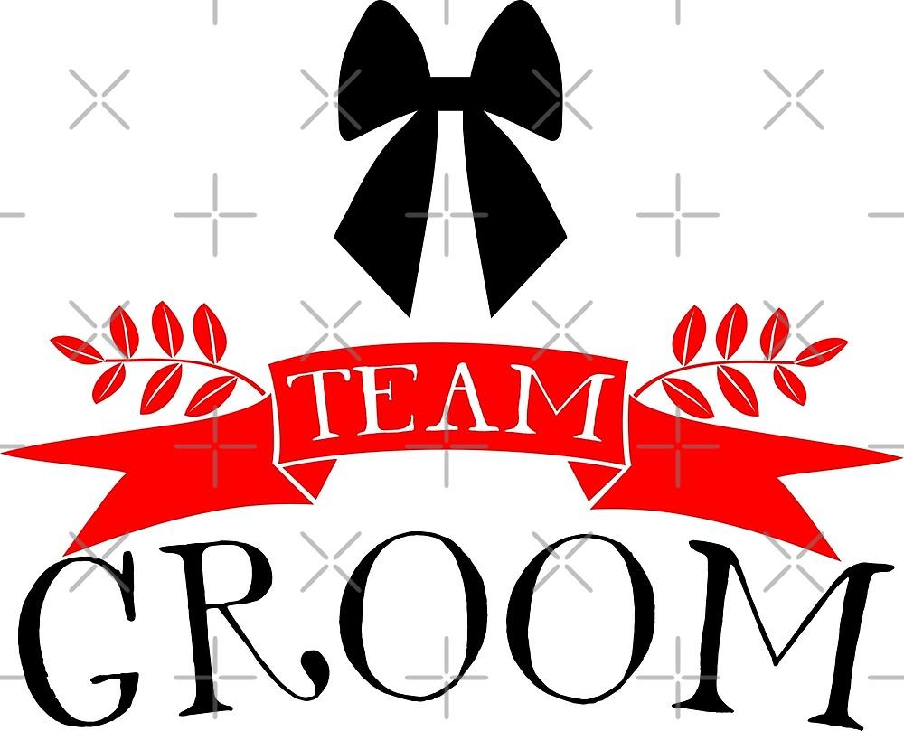 Team Groom Modern Typography by artonwear