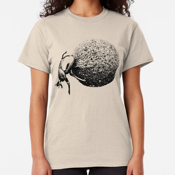 Dung Beetle Rolling Dung Ball | African Wildlife Classic T-Shirt